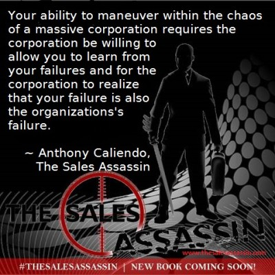 Anthony Caliendo The Sales Assassin you must be able to maneuver within the chaos
