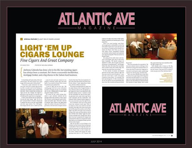 Atlantic Ave Magazine July 2014 Anthony Caliendo Entrepreneur