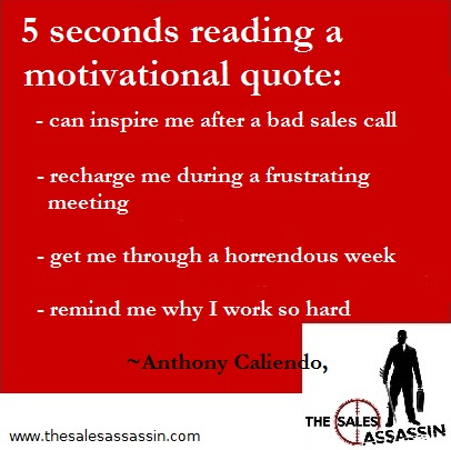 why  spend 5 seconds reading a motivational quote by Anthony Caliendo