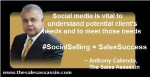 #SocialSelling = #SalesSuccess ~ anthony caliendo