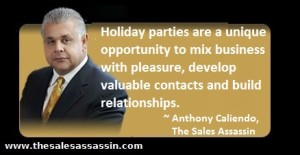 holiday party networking tips from Anthony Caliendo