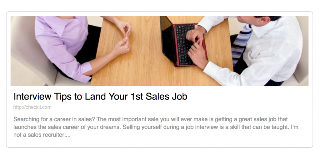 Download My Free Checklist: Interview Tips to Land Your 1st Sales Job