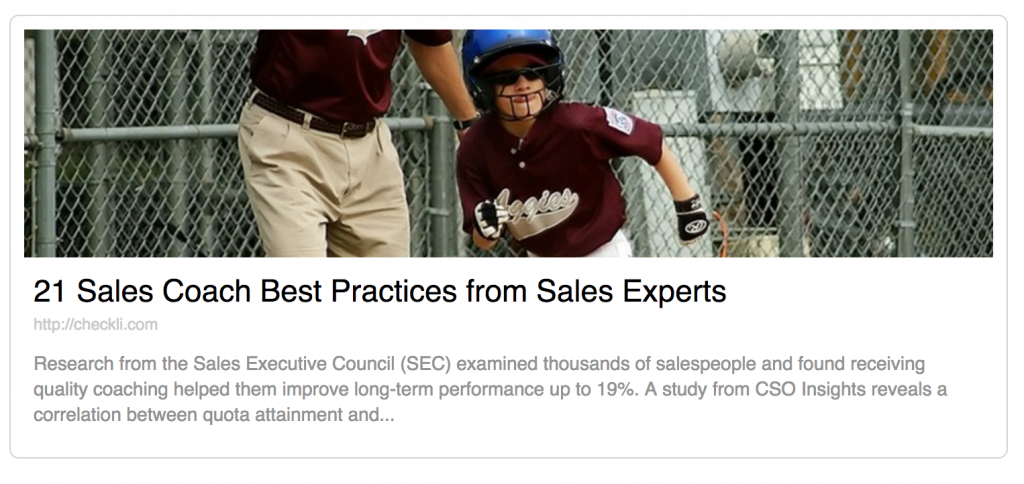 Best Practices for Sales Coach from Experts