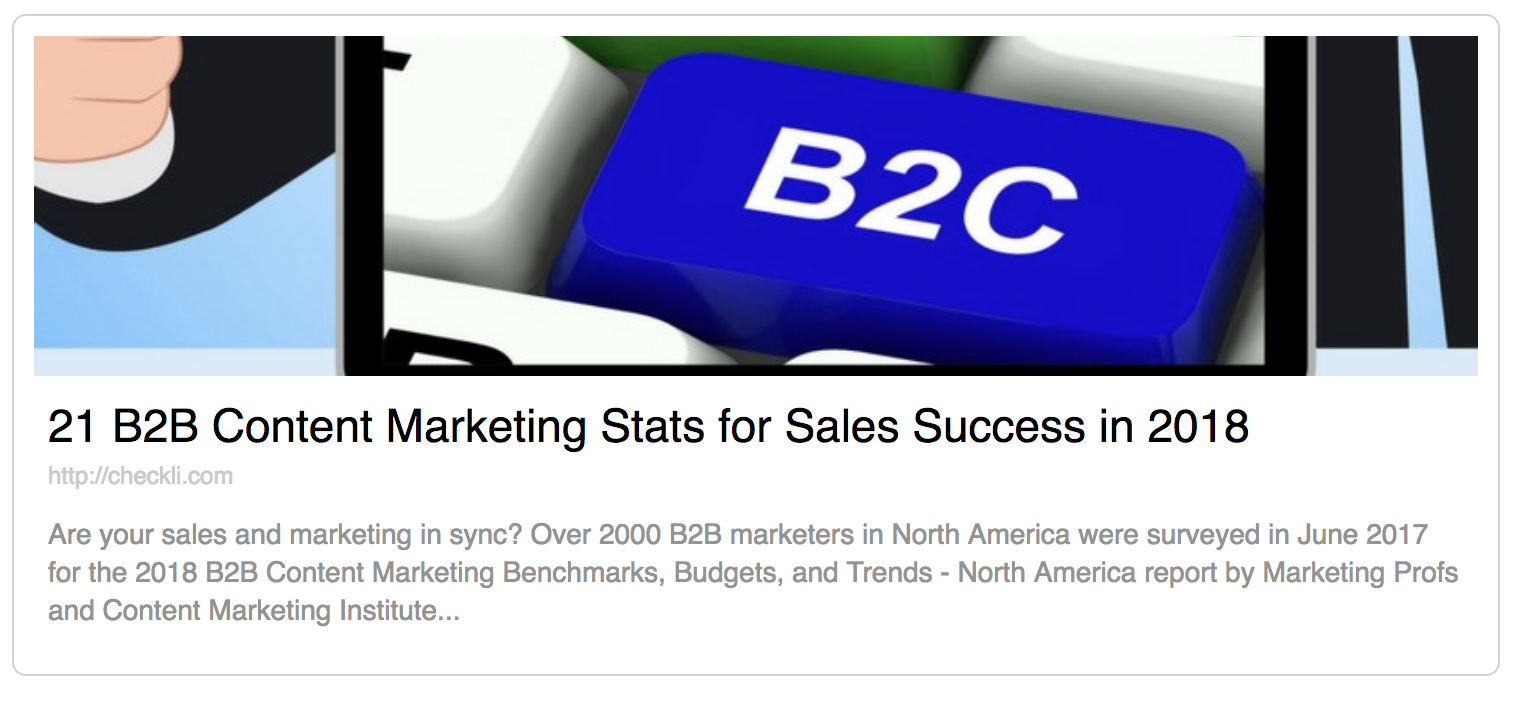 21 B2B Content Marketing Stats for Sales Success in 2018 | Anthony Caliendo | The Sales Assassin