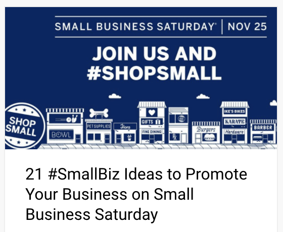 21 #SmallBiz Ideas to Promote Your Business on Small Business Saturday