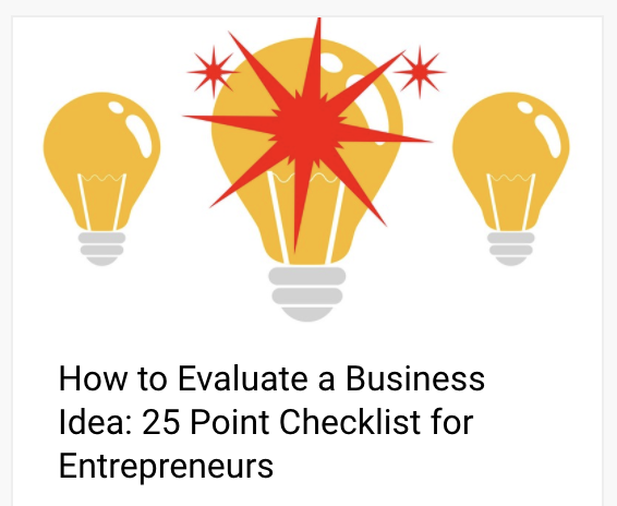 How to Evaluate a Business Idea: 25 Point Checklist for Entrepreneurs | Anthony Caliendo | The Sales Assassin