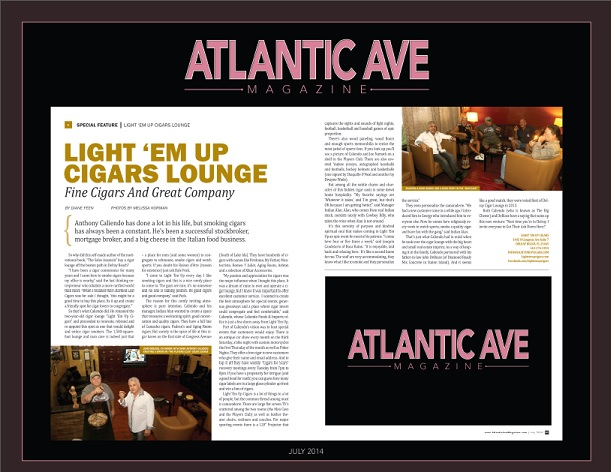 Atlantic Ave Magazine July 2014 Anthony Caliendo Entrepreneur