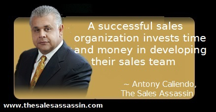 A successful sales organization invests time and money in developing their sales team