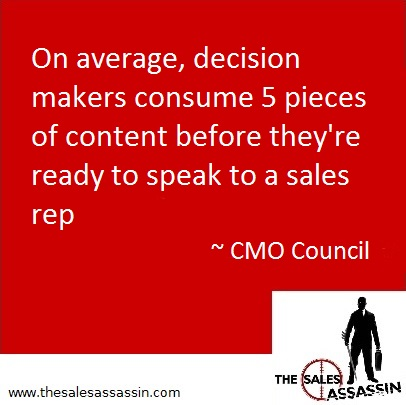 decision makers consume 5 pieces of content before they are ready to speak to a sales rep