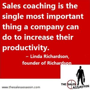 Sales coaching is the single most important thing a company can do to increase their productivity.