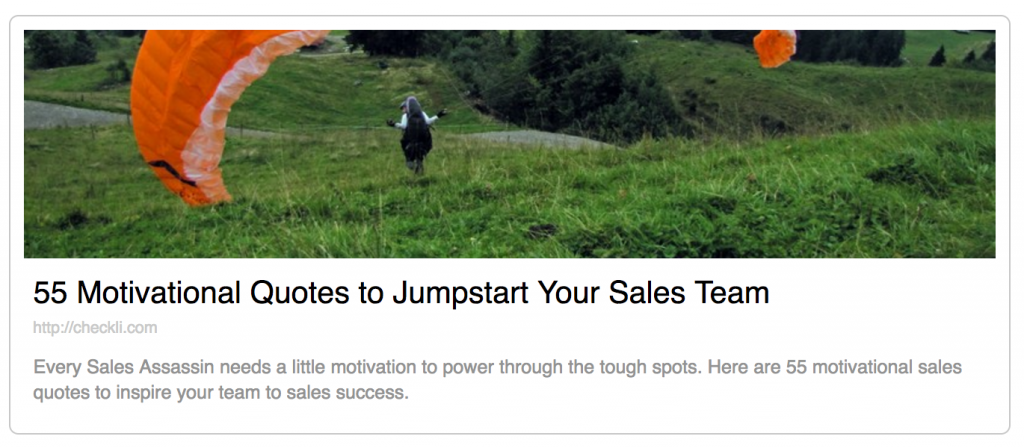 Download My Checklist: 55 Motivational Quotes to Jumpstart Your Sales Team